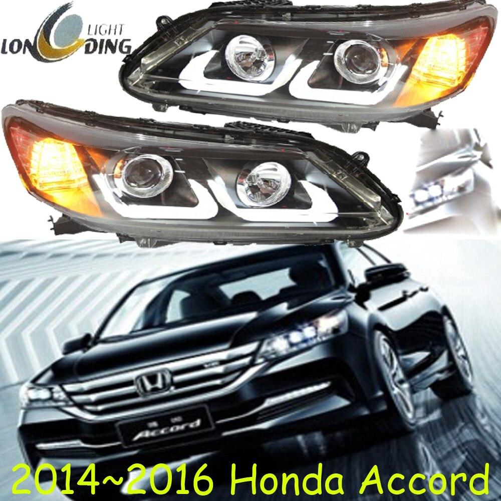 Un ensemble de style de voiture pour Honda Accord phares 2013 ~ 2015 Accord 9th phare DRL Bi xénon lentille feux de croisement
