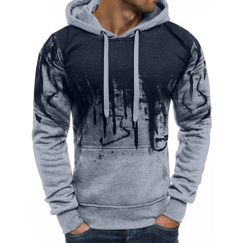 Men/'s Hoody Warm Jacket Adult Workout Casual Pullover Long Pleated Sleeve Hoodie