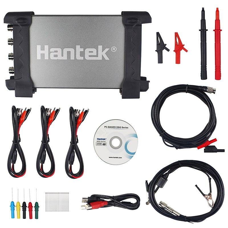 6254BE Digital Hantek PC USB com 4 Canais 250 MHz Osciloscópios 1GSa/s de Taxa de Amostragem Hantek 6254BE larguras de banda Digital portátil