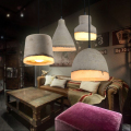 Colorful Loft Vintage Industrial Concrete Droplight Ceiling Lamp Coffee Shop Bar Club Hall Store Dining Room