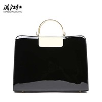 MJH Patent Leather Shoulder Bags For Women Elegant Fashion Summer Handbag Tote Bag High Quality Saffiano