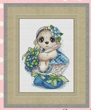 Needlework  14CT 16CT Cross Stitch, DIY Count Embroidery Set,Spring rabbit