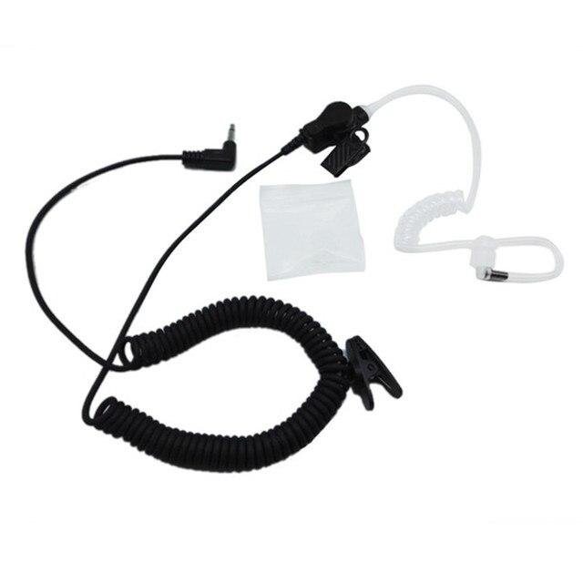 RHF 617-1N 3.5mm récepteur/écoute seulement casque de Surveillance écouteur avec Tube de bobine acoustique clair Kit Audio écouteurs
