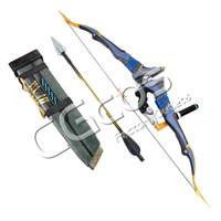 CGCOS Anime Cosplay PVC Prop Game Cos Hanzo Shimada Bow & Arrows & Quiver Stage Accessories Halloween Christmas Party