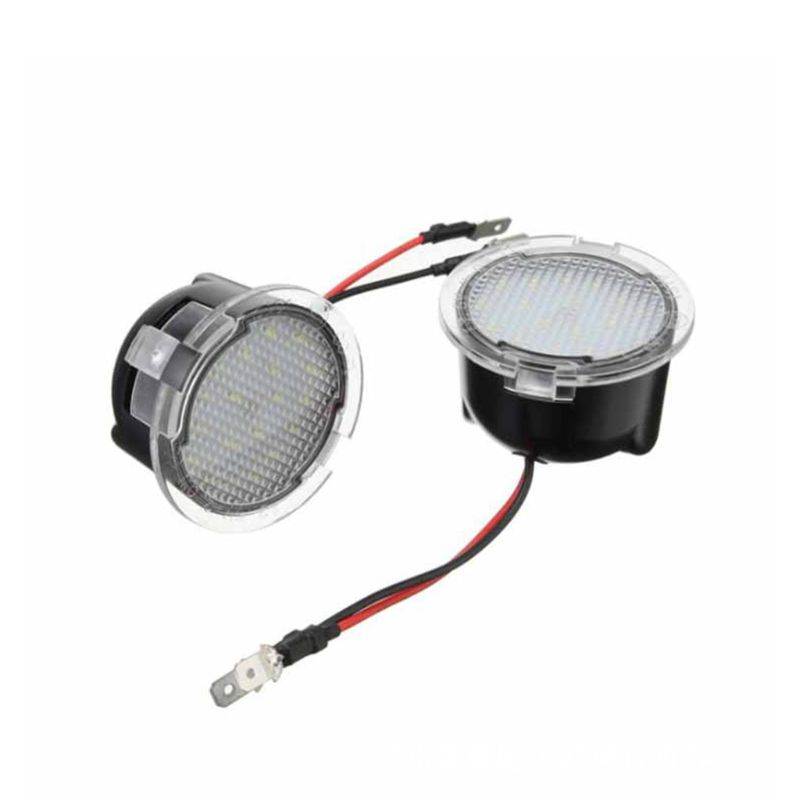2Pcs LED Under Side Mirror Puddle Light for <font><b>Ford</b></font> Edge Fusion Flex <font><b>Explorer</b></font> Mondeo Taurus F-150 Expedition image