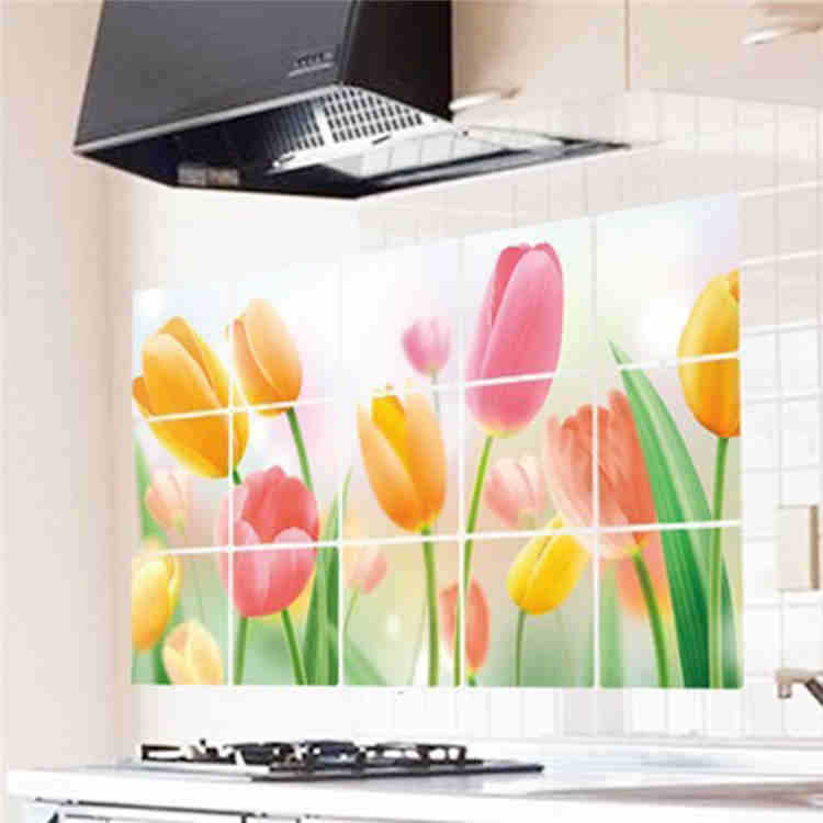 Tile Decor Store: Aliexpress.com : Buy New Fashion Tulips Kitchen Wall