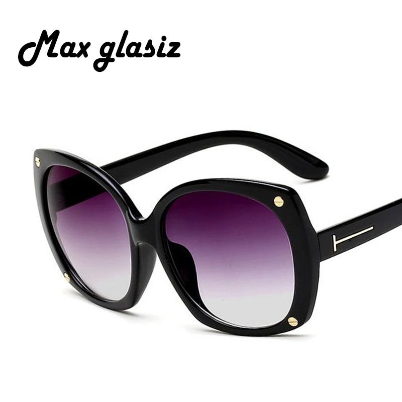 0907ebd924 2017 Women Oversized Sunglasses Black Sun Glasses Luxury Ladies Retro Big  Round PC Frame Brand Designer gafas de sol mujer