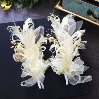 I PCS Bride Hair Accessories Feather Floral Hair Sticks Hair Pins Photography Prop Headpiece Headdress Manufacturer