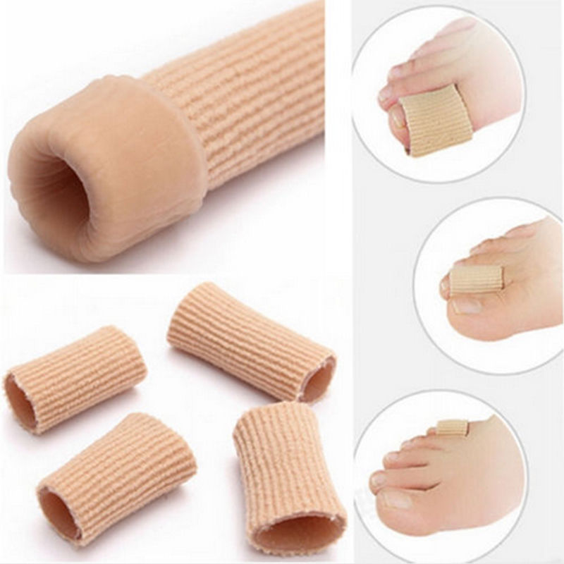 NEW Fabric Cover Ribbed Knit Gel Finger Toe Foot care tools Separator Cap Protector Cove ...