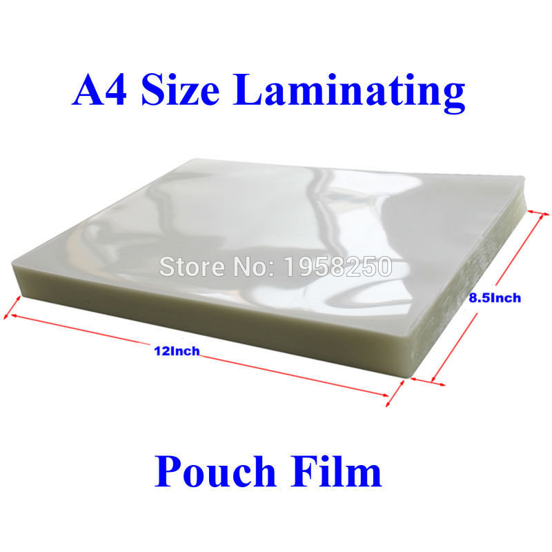 10 Sheets 100mic 4mil A4 Size Pvc Clear Glossy 2flap