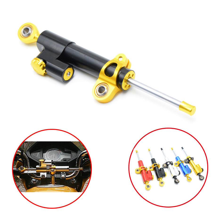 Universal Motorcycle Damper Steering Stabilizer Moto Linear Safety Control For SUZUKI GSR750 GW250F GSXS1000F SFV650 TU250 SV650 new motorcycle steering damper stabilizer motorcycle steering damper motorcycle damper for suzuki gsxr250 k6 k8 06 07 08 09 10