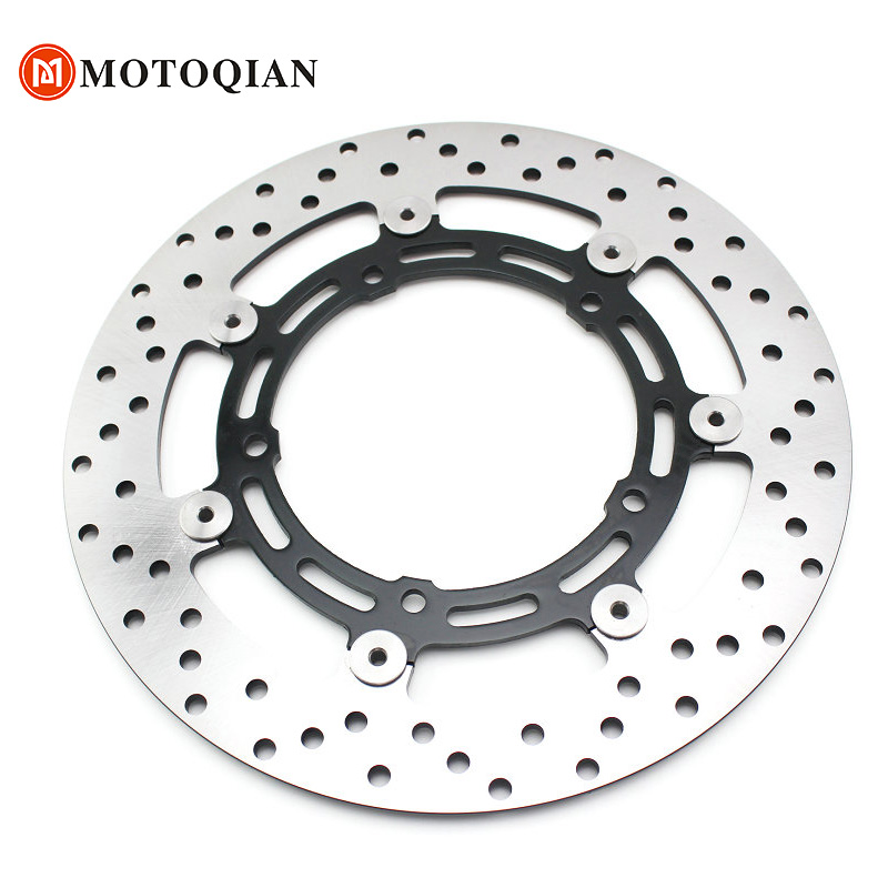 Motorcycle Front Brake Disc Rotors Disk For Yamaha FZ6 FZ6N FZ-6N 2009 2008 2007 2006 2005 2004 Accessories new arrival black tempered plastic motorcycle rear tail section cowl fairing cover for yamaha fz6n fz6s fz 6n 6s fz 6n fz 6s