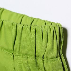 Image 4 - 女性のプラスサイズ夏ミッドウエストゴム固体ストレートプリーツ綿100% 通気性パンツ女性特大汗ショーツ