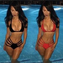 Women s Bikini Swimwear Bandage Red Black trikini sexy women lingerie agent provocateur badeanzug blancos mujer