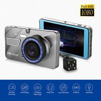 4 Inch Car DVR Camera Dual Lens HD 1080P 170 Wide Angle Video Recorder Registrator Night