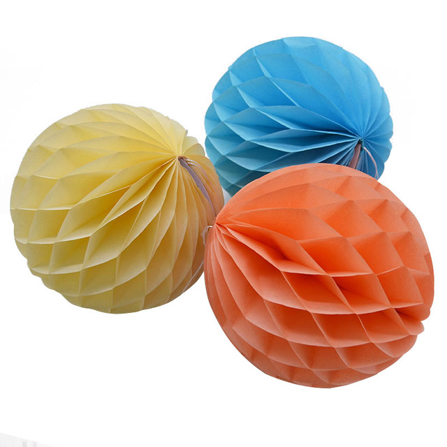1Pcs Honeycomb Ball Paper Flower Hanging For Wedding Birthday Party Decoration DIY Handcraft Scrapbooking Baby