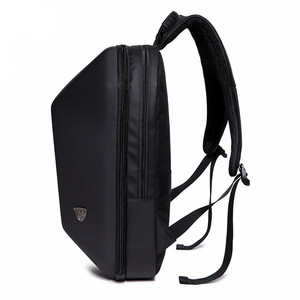 Image 2 - OZUKO Backpack Men Hard Shell Backpack Waterproof Anti Theft Travel Bags Black Creative Alien Casual Laptop Teenage School Boy