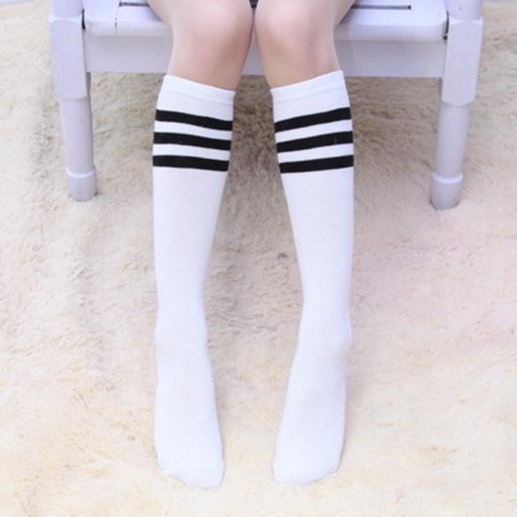 391b50129 Children Socks Baby Girl Black And White Striped Socks Student Knee High  Long Socks For Toddler Girl Clothing Accessories