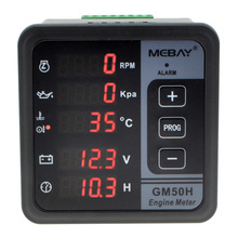 GM50H Engine Digital Multi-functional Meter Diesel Engine Monitor with Oil Pressure Gauge Rotating Speed Oil Temperature12001844