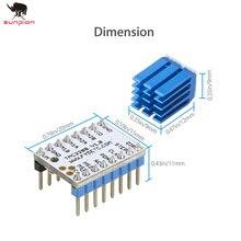 3d принтер запчасти TMC2208 v1.2 шаговый двигатель Mute драйвер Stepstick Мощность встроенный драйвер ток 1.4A пиковое значение тока 2A 1 шт.