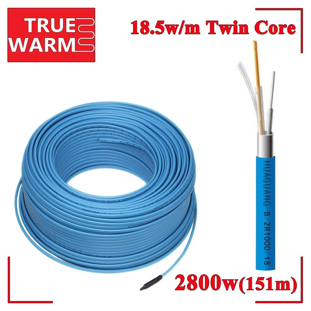 2800ワット151メートルツイン指揮暖房ケーブル用真暖かい床下暖房システム、Wholesale-HC2/18-2800