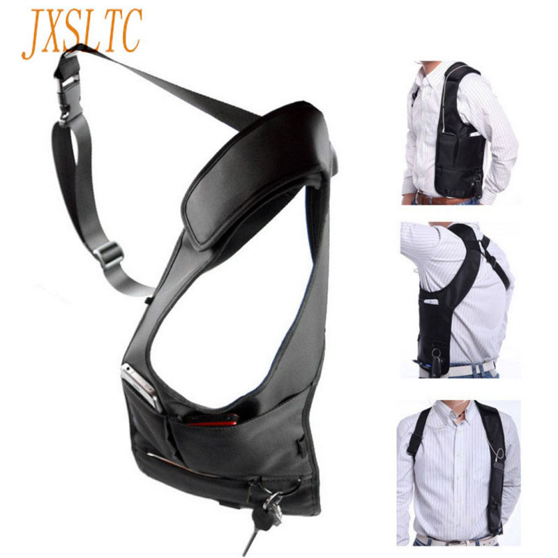 Jxsltc Brand Underarm Bag Fashion Black Backpack Female Travel Security Smart Phone Bag Men Hidden Shoulder Bag  G-16