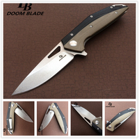 60 61HRC 7.9 Knives D2 Blade G10 Handle Ball Bearing Folding Knife Survival Tool Pocket Knifes Tactical Edc Outdoor Tool