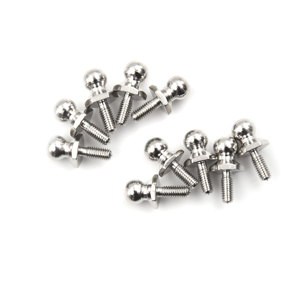 10Pcs HSP Ball Head Screw For RC 1//10 Model Car Buggy Truck Spare PartKRFS