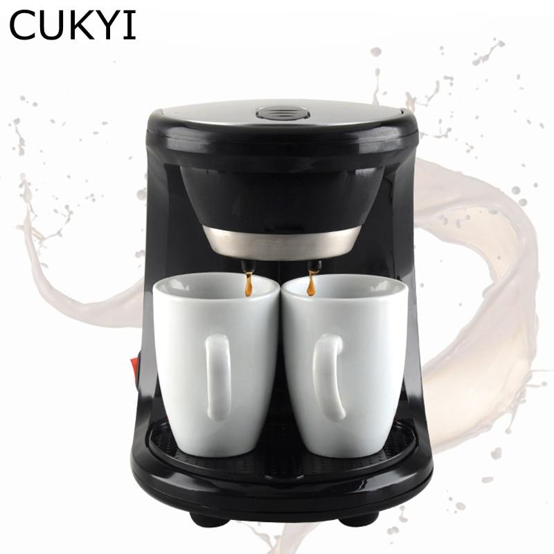 CUKYI Electric Automatic Hourglass Coffee Maker Drip Cafe American Coffee Machine ,110V/220V Black