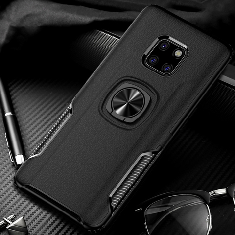 Shockproof Armor Case For Huawei Mate 20 Lite Finger Ring Holder Stand Magnetic Bracket Back Cover Huawei Mate20 Lite Case On Pakistan