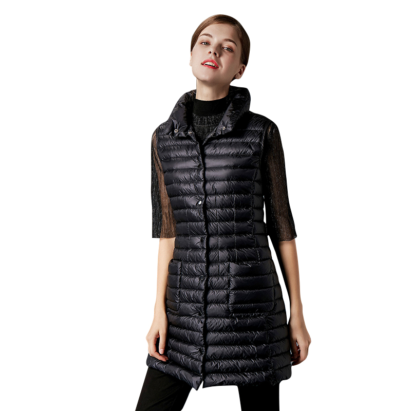 ultra light   down   jacket woman   coats   winter 2018 duck hood Standing collar Single Breasted casual slim 90   Down     Coat   Female