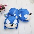 11 pulgadas zapatillas de sonic heroes azul adultos felpa de sonic slipper peluche de juguete de felpa muñeca