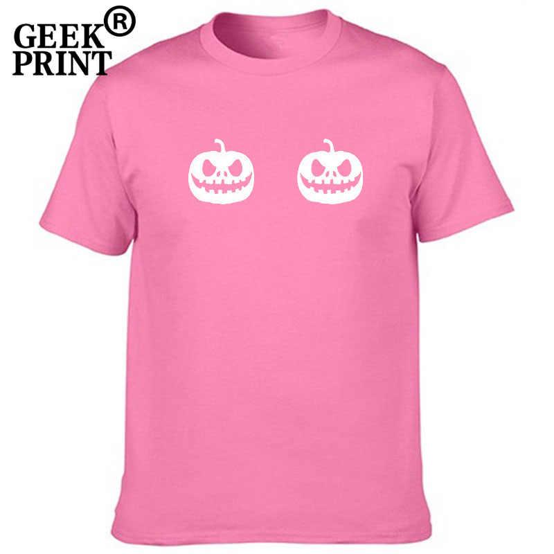 2d5956cc5 Women Tops Pumpkin Boobs Print Tees Lady Halloween Dress Up Tshirts Girl  Costume funny Tumblr Boobies