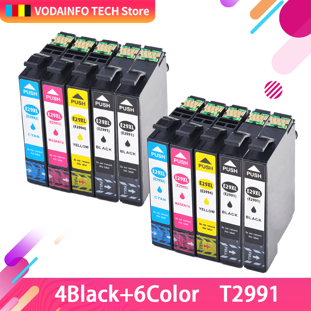 10 PCS T29 29XL compatible For <font><b>Epson</b></font> ink Cartridges t2991xl XP235 XP247 XP245 XP332 XP335 XP342 <font><b>XP345</b></font> XP435 XP432 XP442 XP445 image
