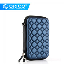 "ORICO Blue 2.5"" External Portable Hard Disk Protection Bag SSD Pouch for 2.5 inch HDD case Data Cable for SEAGATE HDD(China)"