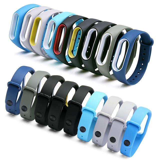 BOORUI Double color mi band 2 accessories pulseira miband 2 strap replacement silicone wriststrap for xiaomi mi2 smart bracelet 2