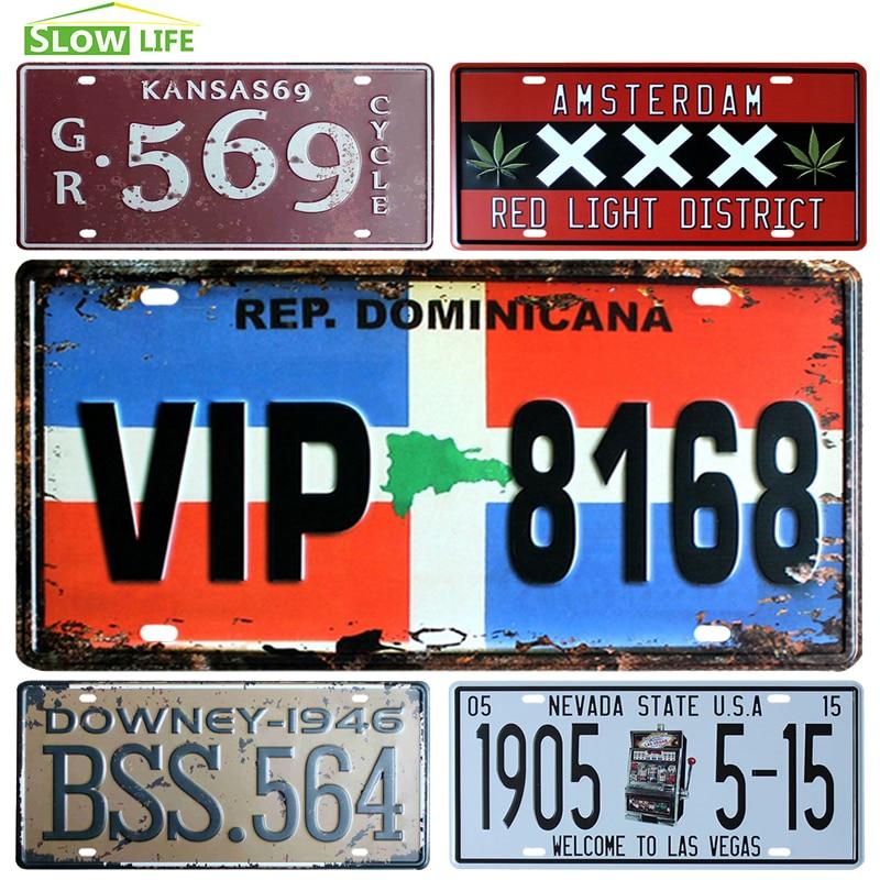 ᐊEstados Unidos metal coche Marcos de matrícula vintage Decoración ...