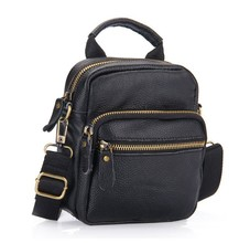 2016 New Genuine Leather Men Shoulder Bags 100%Cowhide Men Messenger Bag High Quality Brand Business Men Bag Wholesale Price