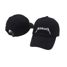 Gorros de béisbol negros Glaedwine Cool Rock letter Metallica Band Fans  gorra Metal algodón béisbol camionero 37c8b7bd460