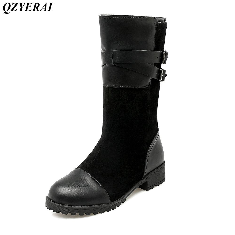 QZYERAI Winter flat female boots snow boots font b women b font font b shoes b