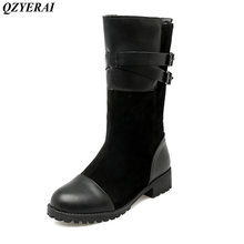 QZYERAI Winter flat female boots snow boots women shoes size 34 43