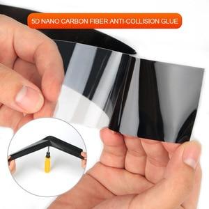 Image 3 - Pegatinas de vinilo para coche 5D, pegatina 3D de fibra de carbono, película impermeable, Protector de parachoques de puerta de automóviles, accesorios de decoración Interior