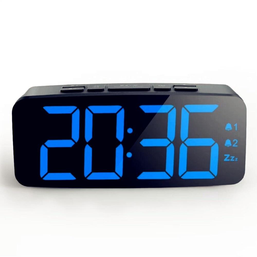 Big Numbers Electric Led Alarm Clock With Dual Alarm Bedroom Silent Snooze Alarm Clock Luminous Digital Table Clock Alarm Clocks Aliexpress