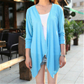 2015 Autumn Winter New Casual Loose Long Sleeve Cropped Women Knitwear Coat Cardigan Feminina Blusa Blouse Shirt Plus Size