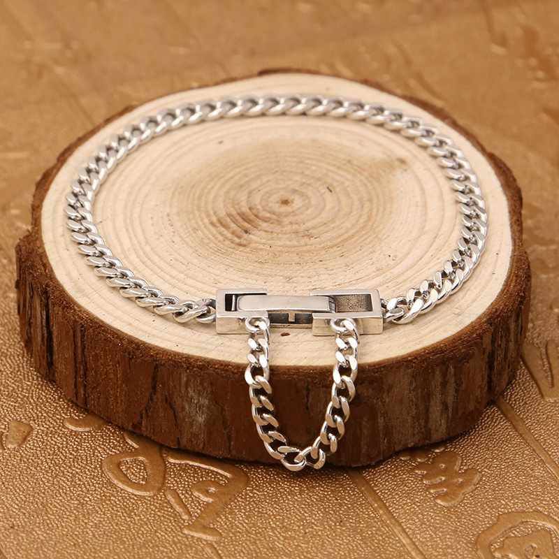 Pure Solid Silver 925 Simple Narrow Chain Bracelet Men Women 100% Real Sterling Silver 925 Fashion Brief Style Jewelry Free Box