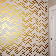 41pcs/set Free shipping wallpaper wall decals Gold Herringbo