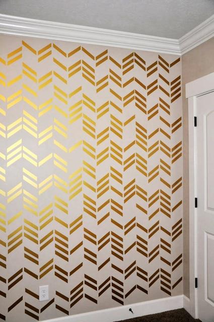 41pcs Set Free Shipping Wallpaper Wall Decals Gold