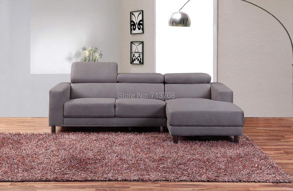 Wholesale living room sofa 3 seat and chaise longue recliner 1360