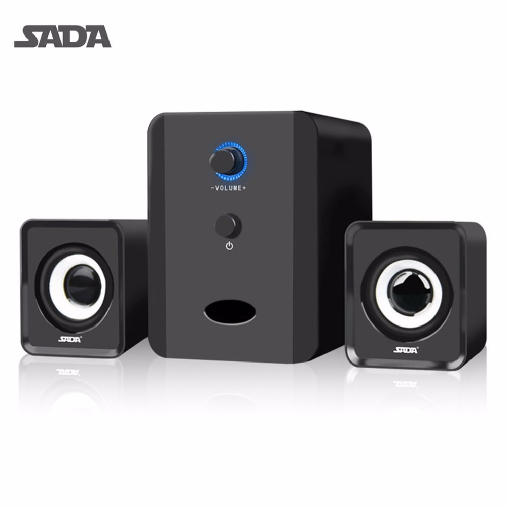sada mini wired d 201 portable combination speaker column computer speakers 2 1 usb channels 3w. Black Bedroom Furniture Sets. Home Design Ideas