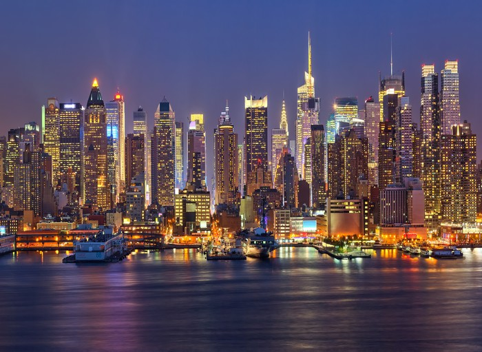 New York City Skyline Night photography studio background Vinyl cloth High quality Computer printed party backdrops